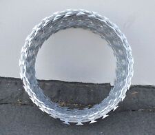 """12"""" RAZOR / HELICAL BARBED WIRE GALVANIZED STEEL 1 COIL 20 FEET COVERAGE"""
