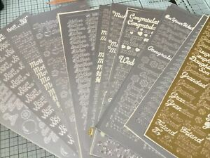 15 X Peel Off Stickers Mainly Silver