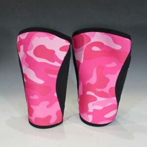 RockTape 5mm Knee Caps, Pair (Pink Camo, X-Large) - Neoprene Sleeve / Support