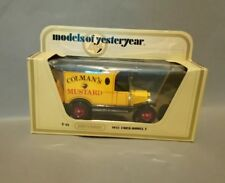 MATCHBOX MODELS OF YESTERYEAR Y12 1912 FORD MODEL T  COLMANS MUSTARD BOXED