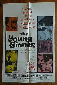1965 Orig 27''x41'' Movie poster *The Young Sinner* Tom Laughlin Stefanie Powers