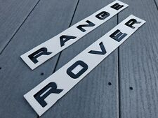 GLOSS BLACK RANGE ROVER SPORT EVOQUE P38 P322 FRONT REAR BADGE LETTERING