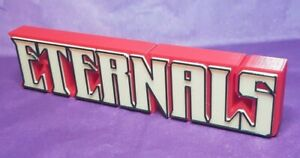 Eternals  - 3D Printed comic book logo - This is a great piece of shelf art
