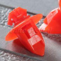 50Pcs Car Bumper Fender Push Type Nylon Clips Retainer Fastener Red for Toyota