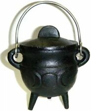 "3.5"" Triple Moon Cauldron Incense Burner Charcoal Pot Belly Free Priority Ship !"