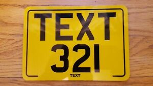 8x6 Text Motorcycle Kids Plate Novelty Bike Plate / Not Number Plate