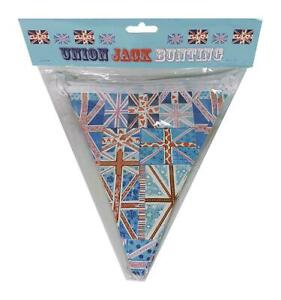 Union Jack Bunting Approx 3.3 Metres With 14 Quality Paper Flags - New In Pack