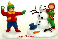 Dept. 56 Holiday Charms A Frosty Friend Set of 2 Simple Traditions 56.02980 New