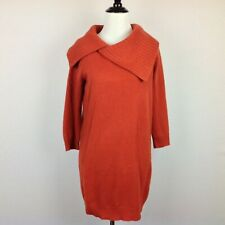 Cynthia Rowley Cashmere Tunic Sweater Womens Small Burnt Orange