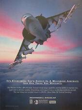 9/1994 PUB MCDONNELL DOUGLAS BRITISH AEROSPACE AV-8B HARRIER II PLUS ORIGINAL AD