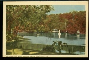 Duck Pond Public Gardens  Halifax NS used post card Canada
