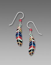 Sienna Sky Multi Colored FEATHER EARRINGS STERLING Made in USA - Gift Boxed