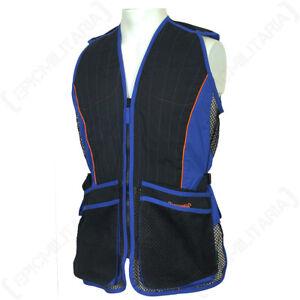 Skeet Shooting Vest Evo Blue - Clay Pigeon Shooting Hunting Vest Jacket Gillet