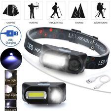 USB Rechargeable 6 Modes COB LED Headlamp Headlight Head Light Torch Flashlights