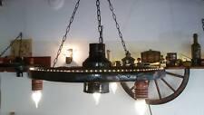 Аntik rustik Deckenleuchte kronleuchter holz hangelampe pendelampe wagenrad led