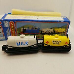 Thomas & Friends Bandai Sodor Fuel And Milk Tanker Cars