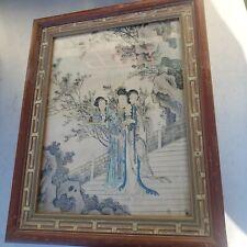 Nice vintage framed chinese art