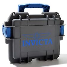 DC3GREY/BLUE Invicta 3 Three-Slot Impact Dive Collector Case Free Shipping
