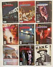 American Cinematographer Magazine Lot of 9 1987 1989 1990 1991