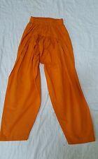 100% Cotton Plain Solid orange Pakistani Indian Salwar Shalwar USA Seller