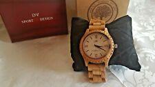GV Sport Design Armband Uhr Holzuhr Herren Uhr Olivenholz (GV16)