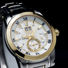 Seiko Premier Kinetic Perpetual Calendar Two Tone Mens Watch SNP094P1 UK Seller