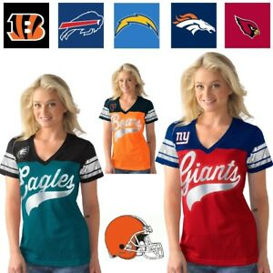 Officially Licensed NFL For Her Pass Rush Jersey Tee by Glll 484352-J $24.90