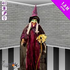 animé debout Sorcière Balai son mouvement allumer accessoire d'Halloween