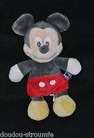 Peluche Doudou Mickey DISNEY Créaprim Souris Visage Chair Noir Rouge 22 Cm TTBE