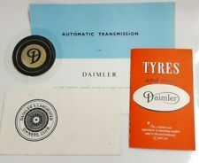DAIMLER TAX DISC HOLDER + OWNERS CLUB APPLICATION FOLDER TYRE BOOK AUTO TRANS