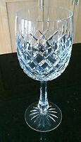 Crystal Wine Glass Cut Etched Stemmed Yugoslavia Glassware Port Drinks Goblets