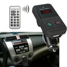 Kit per auto Trasmettitore FM con Telecomando senza fili Bluetooth TF Mp3 USB