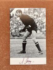 "Lev Jashin ""Araña Negra"" Signed Original Postal JJOO Moscú 1980"