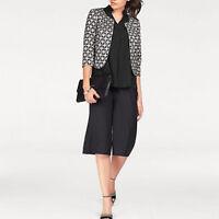 Marke Elegant Culotte Weite Hosenbeine SHIRTHOSE HOSE Jersey schwarz Gr.36/38