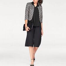 Marke Elegant Culotte Weite Hosenbeine SHIRTHOSE HOSE Jersey schwarz Gr.38/40