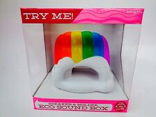 ECO SOUND BOX--SPEAKER & HOLDER--RAINBOW/CLOUD--FOR IPHONE 4, 4S, 5, 5S - NEW!!