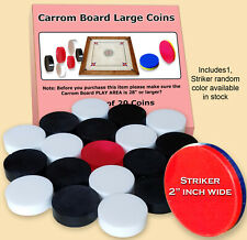 CARROM BOARD COINS LARGE DISK ACRYLIC HIGH QUALITY, IDEAL FOR LARGE BOARDS ONLY.