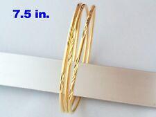 Thin Bracelet Bangle Cut Gold Plated Nice Fine Jewelry Women Girls Thai 7in 8in