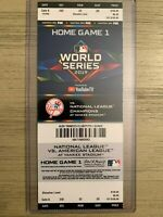 2019 New York Yankees WORLD SERIES Ticket Stub Phantom Unplayed Game