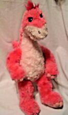 "Babw Build a Bear Hot Pink soft furry big Dinosaur apatosaurus stuffed plush 20"""