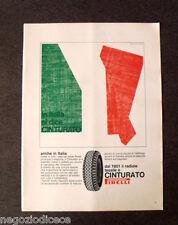 [GCG] P394 - Advertising Pubblicità -1968- CINTURATO PIRELLI , IN ITALIA