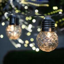 3,8 m 10 LED Solar Kugel Lichterkette Garten Außen Outdoor Beleuchtung Lampe