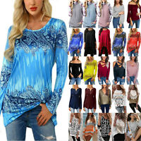 Women Long Sleeve T-Shirt Jumper Ladies Casual Loose Tunic Blouse Pullover Tops
