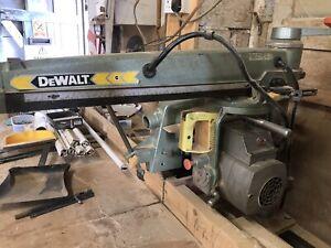 Dewalt Radial Arm Saw Cross Cut With Stand