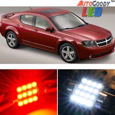 8 x Premium Red LED Lights Interior Package Upgrade for Dodge Avenger 2011-2014