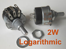 2pc A10K Ω Ohm 10K Logarithmic Nolinear Potentiometer 2W ON/OFF Switch WH134-2
