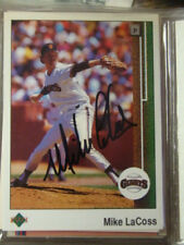 AUTOGRAPHED SIGNED 1989 UPPER DECK BASEBALL CARD MIKE LACOSS SAN FRANCISCO GIANT