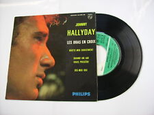 "JOHNNY HALLYDAY - LES BRAS EN CROIX - 7"" VINYL 1963 FRANCE - EXCELLENT"