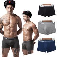 Pack 1/3/6 Lot Mens Underwear Black Seam Trunks Briefs Cotton Boxer Shorts Lot