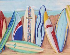 SURF BOARD OCEAN AQUARIUM Wall Paper Border